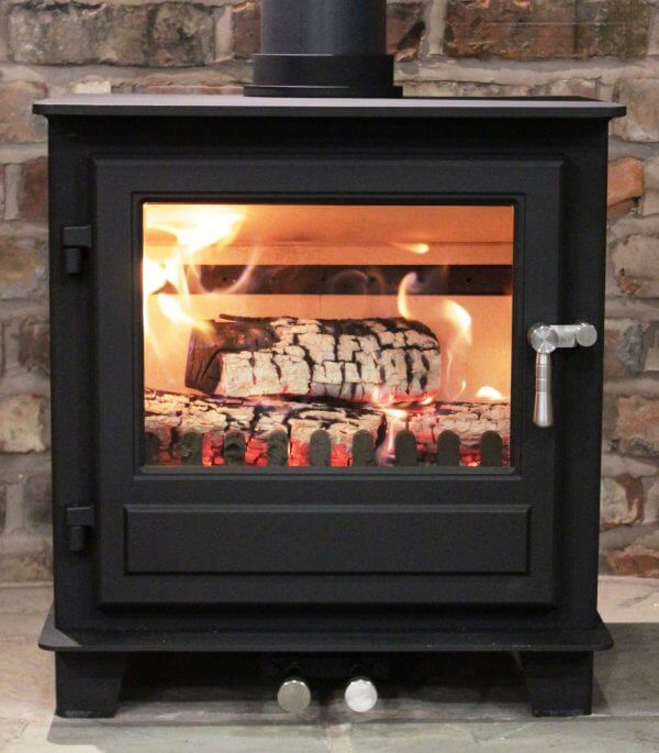clock wood burning and multifuel stove defra approved
