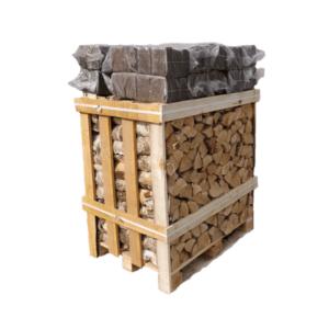 Kiln Dried Birch Crate + Long Burning Night Briquettes