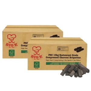 Big K Charcoal Briquettes Twin Pack